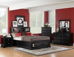 bedroom classical furniture set laminated wooden floor black and white rustic brick tile wall design simple bedroom furniture black and white
