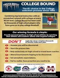 college bound baseball program softball program