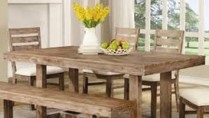dining table with wheels: dining room wired brush nutmeg rustic dining table  piece with  chairs  table