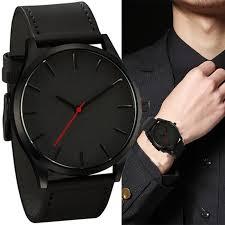 Мужские часы Мода Бизнес <b>Кварц</b> Большой Dial Часы для ...