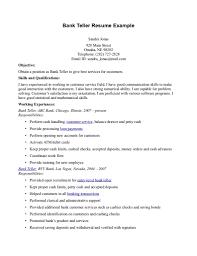 teller description job resume  seangarrette coteller description job