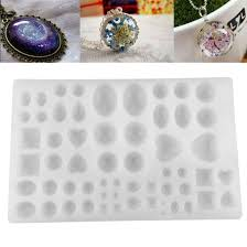 Rectangle Cabochon <b>Silicon</b> Pendant <b>Molds</b> For Epoxy Resin ...