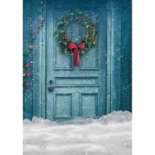 <b>Allenjoy photo background Christmas</b> background blue door flowers ...
