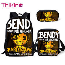 <b>Thikin Bendy And Ink</b> Machine Book Bags Children School Bag For ...