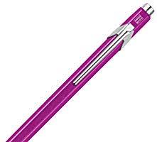 <b>Caran D'ache</b> 849 <b>Popline Metal x</b> Violet Ballpoint Pen with Metal ...