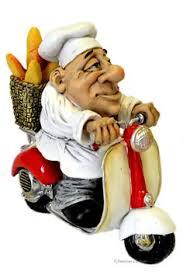 italian bistro decor full size resin fat french chef statue figurine on italian scooter kitchen bistr