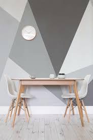 want a modern twist on the traditional monochrome theme this giant geometric wallpaper design is art for home office