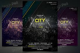 city sound psd event flyer template net to have an event