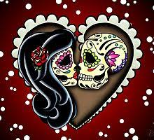 Sugar <b>Skull Woman</b> Wall Art | Redbubble