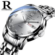 Watch Men Women <b>Business</b> Waterproof Clock Auto Date Silver ...