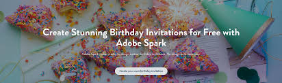make your own birthday invitations for adobe spark