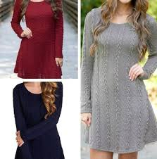 <b>Winter Women</b> Knitted <b>Sweaters</b> Long Slim <b>Sweater</b> Dresses ...
