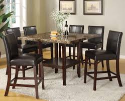dining room pub style sets: acme furniture idris  piece counter height dining set