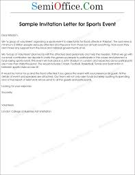 letter of invitation to sports event letter of invitation to sports event
