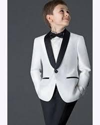 new <b>Black</b>/White little <b>boys suits</b> for weddings <b>Child Suit</b> tuxedo ...