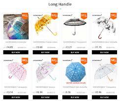 <b>SHOWERSMILE Clear Umbrella Transparent</b> Raindrops Pink ...