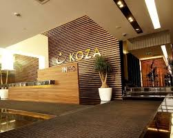 corporate office interior design ideas wood material application for wall decoration on koza office www chic front desk office interior design ideas
