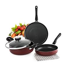 Cello Prima Induction Base Non-Stick Aluminium Cookware Set, <b>3</b> ...