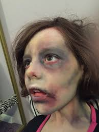 Zombie child face paint make up www.facebook.