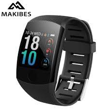 Makibes <b>C20S</b> blood pressure wrist band <b>heart rate</b> monitor <b>ECG</b> ...