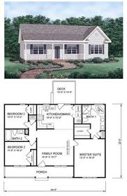 Small houses  Floors and Small house floor plans on PinterestRanch House Plan   Tiny House Plans Bedroom Bedroom Floor
