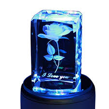 LIWUYOU Personalized Custom Text <b>Colorful</b> Romantic Rose <b>3D</b>