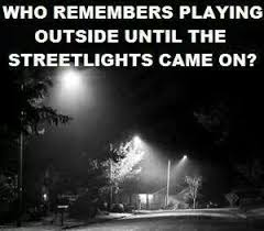 Image result for pics of kids playing under a street light