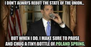 The Drink Heard 'Round the World: Rubio's State of the Union Water ... via Relatably.com
