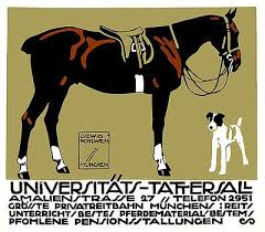 1912 Ludwig Hohlwein <b>Horse Riding Poster</b> Art,hohlwein,germany ...