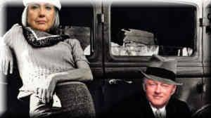 Image result for pics of hillary and bill: bonnie and clyde