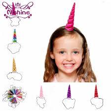 Nishine <b>1PCS Kids</b> Girls <b>Unicorn</b> Horns Elastic Headband <b>Birthday</b> ...