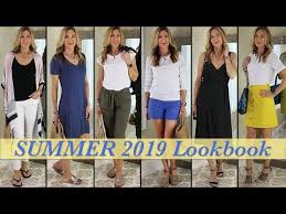 Lookbook <b>Summer 2019</b> | Outfit Ideas for <b>Women</b> Over 50! - YouTube