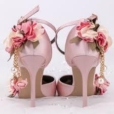 Pink Sandals Flowers Bride Wedding Party TV Program 10cm High ...