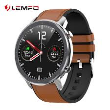 LEMFO 2019 <b>Newest</b> PPG + ECG Smart Watch Men Full <b>Round</b> ...