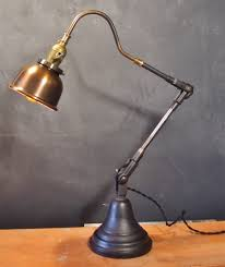 vintage industrial style desk lamp w copper shade dw vintage lighting co online store powered by storenvy antique office lamp