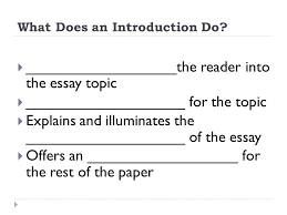 the components of an essay english   student notes   ppt download reader into the essay topic