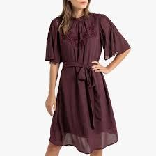 <b>Платье короткое расклешенное</b> с вышивкой и короткими ...