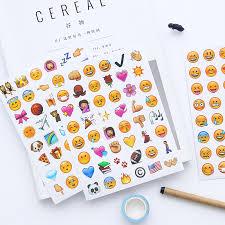 Mohamm 4 <b>sheets</b>/<b>lot</b> Cute Kawaii Emoji Paper Craft Scrapbooking ...
