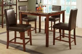 4 chair kitchen table: granite square counter height dining height set stone top kitchen table high table chair set bardstown