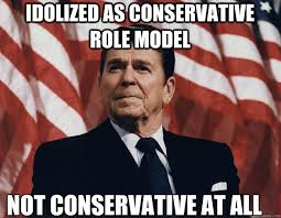 Idolized as conservative role model not conservative at all ... via Relatably.com