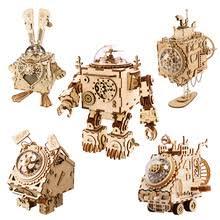 Музыкальная шкатулка Robotime ROKR в стиле стимпанк, 3D ...