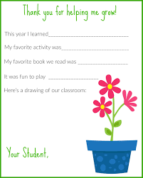 a thank you letter for teachers printable the chirping moms they both enjoyed filling it out and can t wait to present them to their teachers on the last day of school it would be cute to pair it a plant to