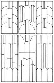 this chart is a bit of a help to see how the patterns used in art deco are formed with out the distraction of colour another pattern frame that ccould be art deco furniture lines