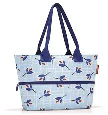 Купить <b>Сумка reisenthel Shopper</b> E1 RJ4064 leaves blue, текстиль ...
