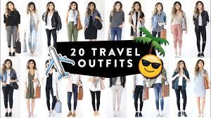 20 TRAVEL OUTFIT IDEAS | <b>Casual</b> Travel Fashion Lookbook ...