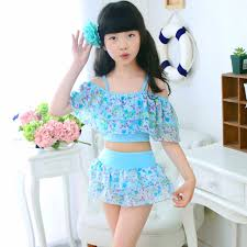 Girls <b>Two Pieces</b> Suits For Swimming <b>Children</b> Polyester Swimwear ...