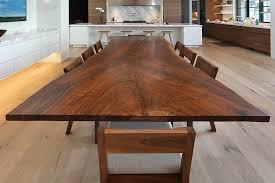 wood slab dining table beautiful: a live edge claro walnut dining table