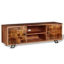 vidaXL Solid Sheesham Wood <b>TV Cabinet</b> Entertainment Unit Stand ...