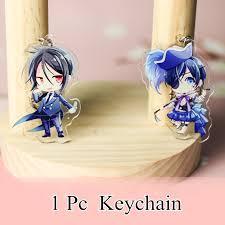 1 Pc <b>Anime Kuroshitsuji Black Butler</b> Pendant Keychain Gift ₱119 7