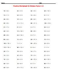 Printable Free Simple Division Worksheetssimple division practice worksheets